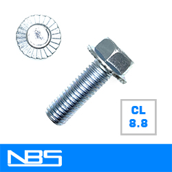 Cl.8.8 Serrated Hex Flange Machine Bolts
