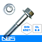 Cl.8.8 DIN 6921 Non-Serrated Frame Bolts