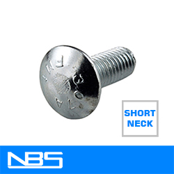Garage Door Short Neck Carriage Bolts