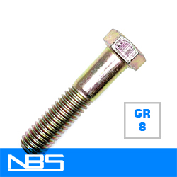 Gr.8 Hex Cap Screws