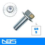 Gr.5 Large Serrated Hex Flange Machine Bolts