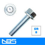 Gr.8 Serrated Hex Flange Machine Bolts
