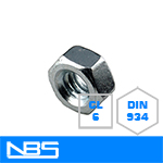 Cl.6 DIN 934 Finished Hex Nuts